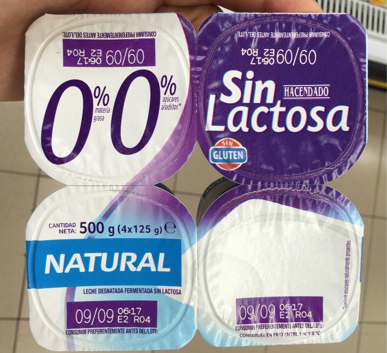 0% sin lactosa - Producto