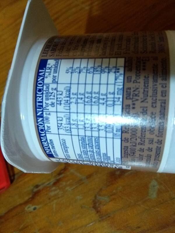 Yoghurt sabor coco - Informations nutritionnelles