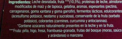 Yogur con fruta 0% - Ingrédients - fr