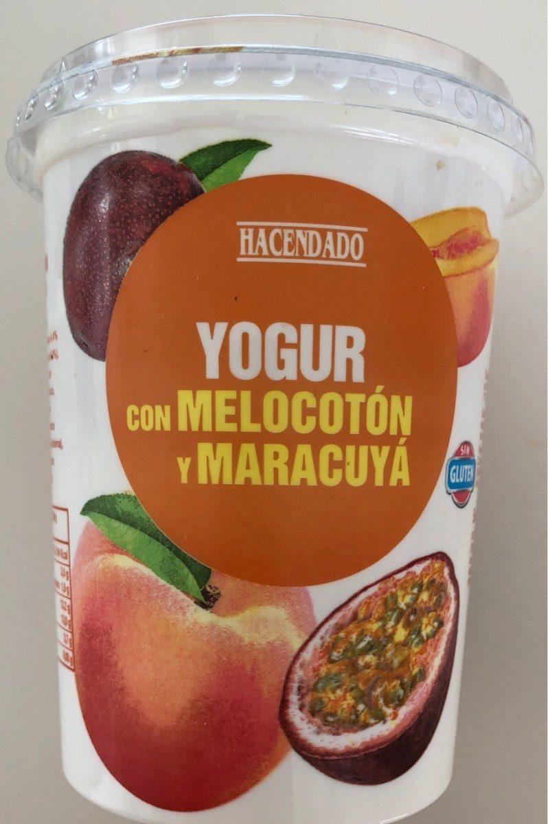 Yogur con trozos de melocotón y pulpa de maracuyá - Product