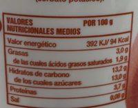 Yogur con trozos de melocotón y pulpa de maracuyá - Nutrition facts