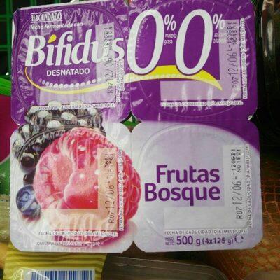 Yogurt bifidus 0% frutas del bosque