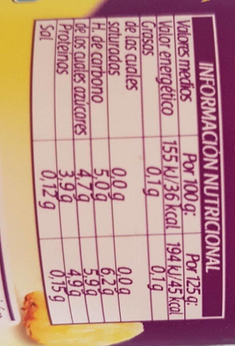 Bífidus piña 0% - Información nutricional - es