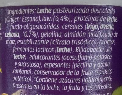 Bifidus kiwi cereales - Ingredientes
