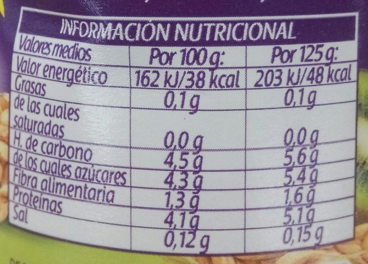 Bifidus kiwi cereales - Información nutricional