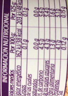 Bifidus Kiwi Cereales - Informació nutricional