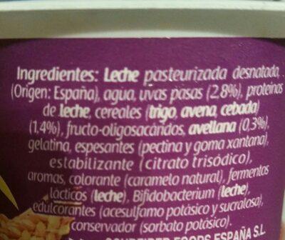 Bifidus 0% muesli cereales - Ingredientes