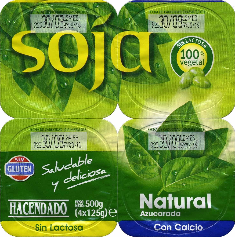 de soja Natural (Mercadona) - Producto