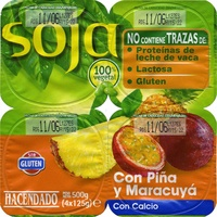 Postre de soja con piña y maracuyá - Producto