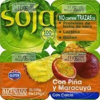 Postre de soja con piña y maracuyá - Product - es