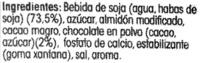 Soja con chocolate - Ingredientes - es