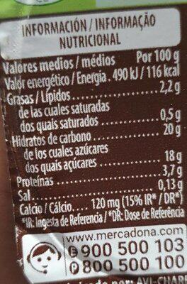 Soja Chocolate - Voedingswaarden - en
