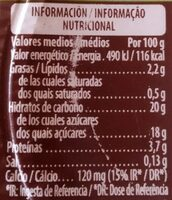 Soja con chocolate - Informations nutritionnelles - es