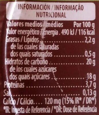 Soja con chocolate - Información nutricional - es