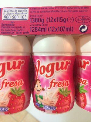 Yogur fresa - Producto - es