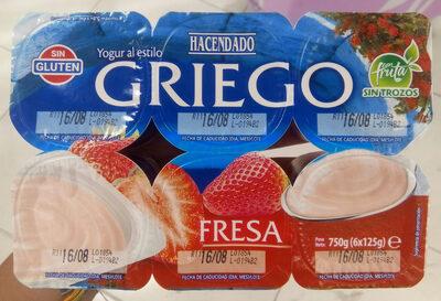 Yogur al estilo griego fresa