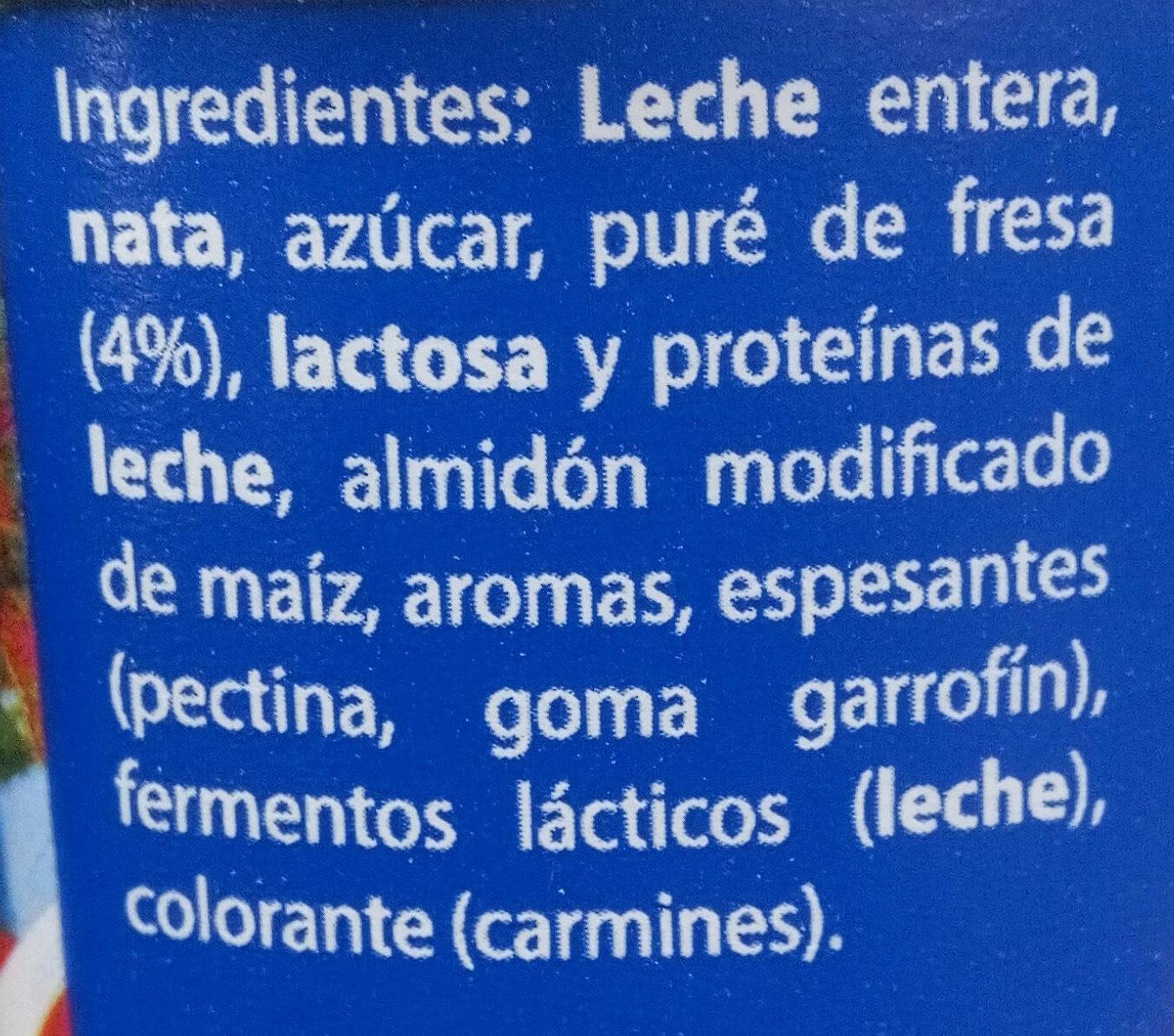 Griego fresa - Ingrediënten - es