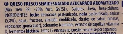 Petit fresa plátano - Ingredients - es