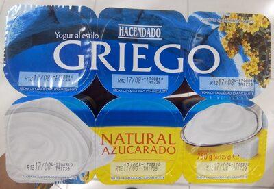 Yogur al estilo griego azucardo - Producte