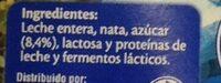 Yogur al estilo griego azucardo - Ingredients