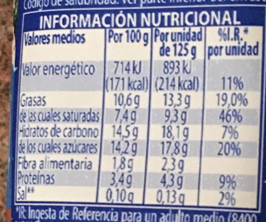 Yogur griego stracciatella - Hacendado - 125 g