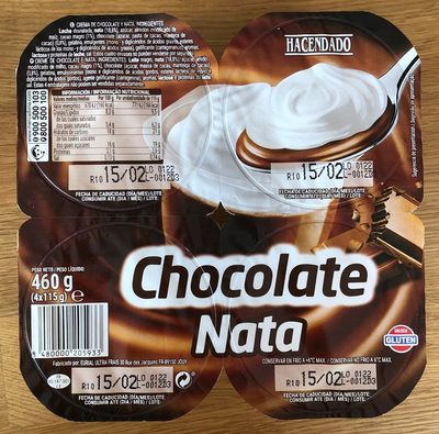 Chocolate nata - Product - es