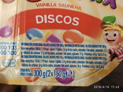 Yogomix discos - Voedigswaarden