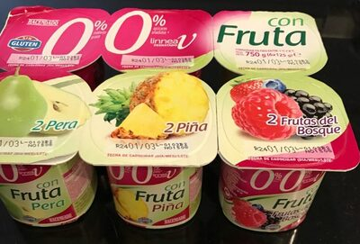 Yogurt cero porciento con fruta