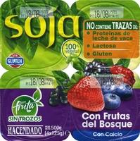 Postre de soja con frutas del bosque - Producto