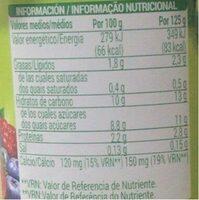 Soja Frutos Silvestres - Informations nutritionnelles - en