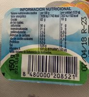 Beurre Doux - Información nutricional
