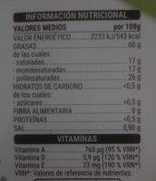 Margarina con sal - Información nutricional - es