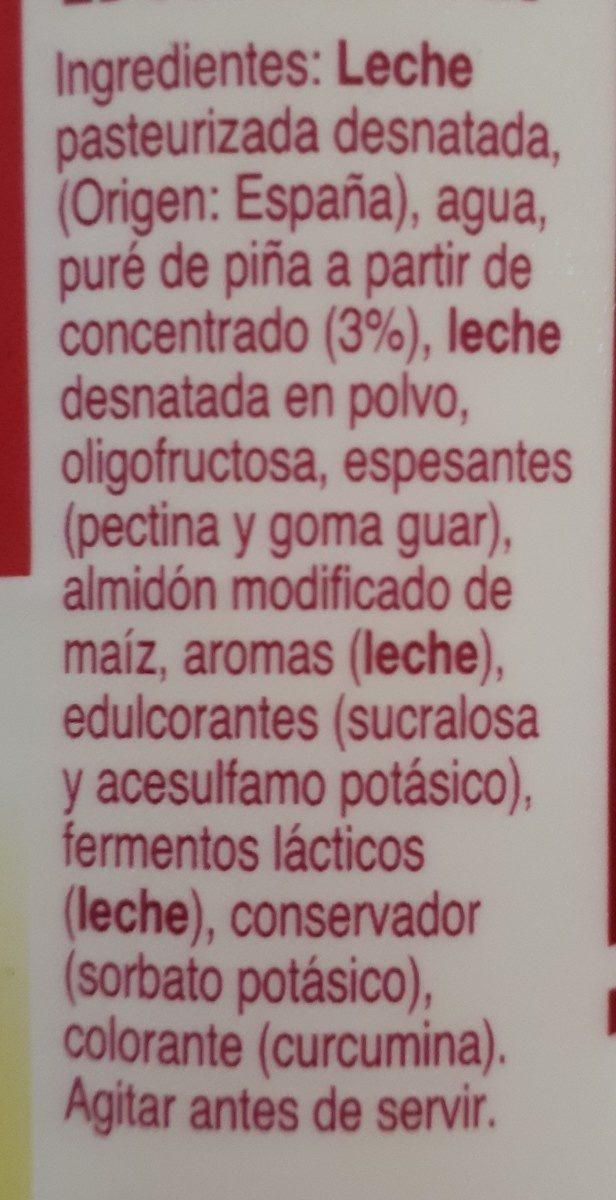 Yogur para beber 'piña' - Ingredientes