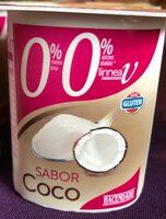 Yogur sabor coco 0% - Producto - es