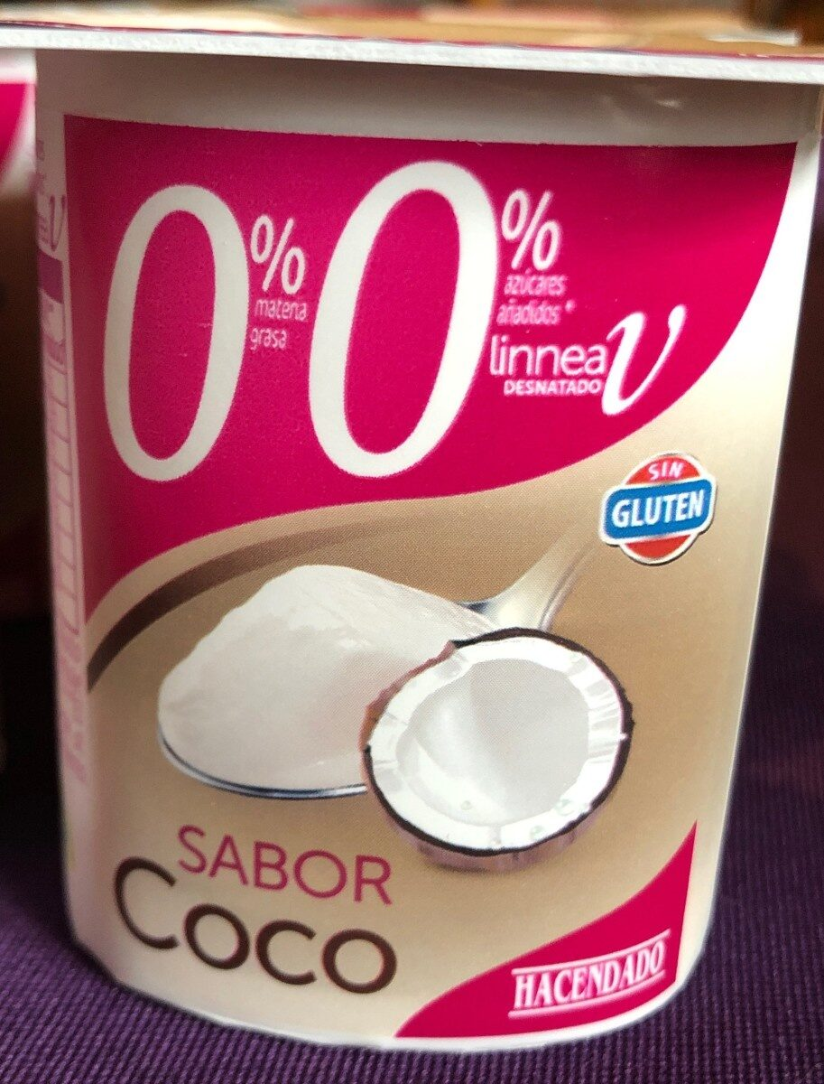 Yogur sabor coco 0% - Producte - es