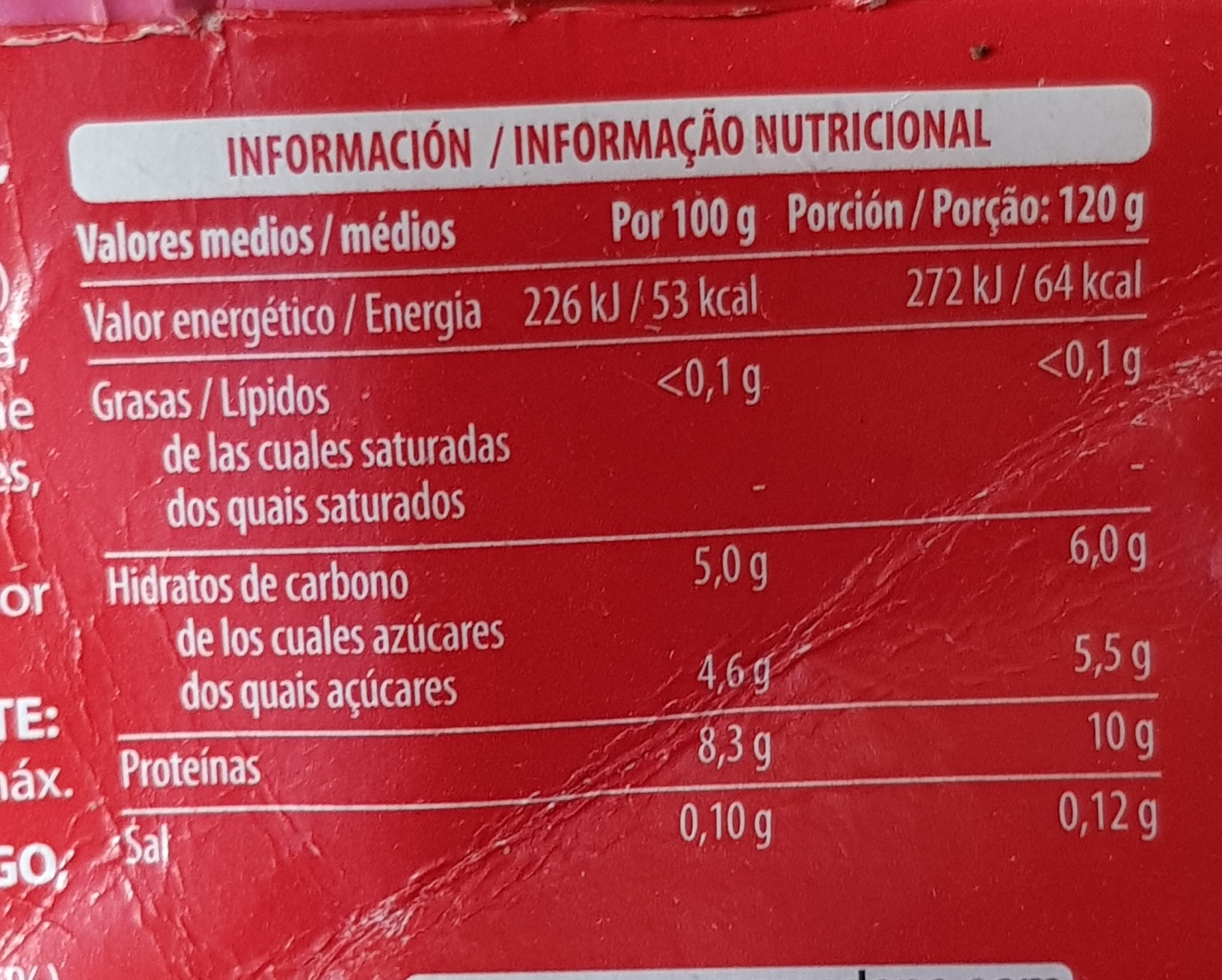 Yogur proteinas sabor fresa - Nutrition facts