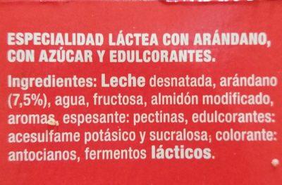 +proteínas con arándanos - Ingrediënten - es