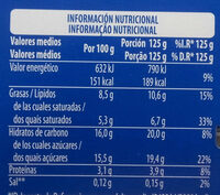Griego Limón y Jengibre - Nutrition facts