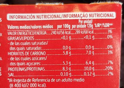 Yogurt +proteinas - Informació nutricional