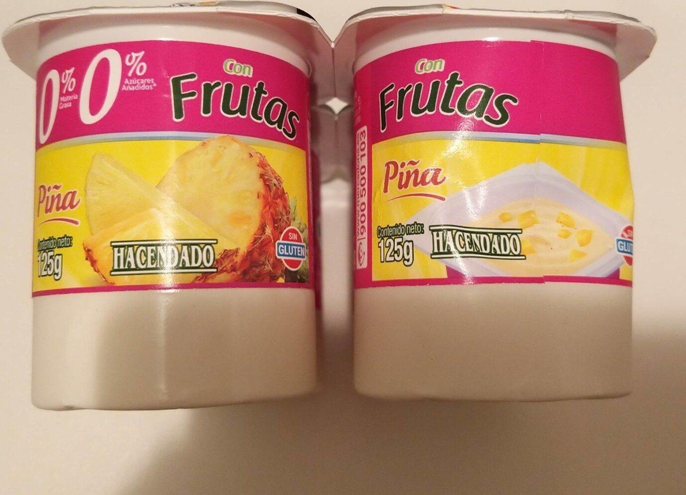 Yogur con frutas 0% - Product - es