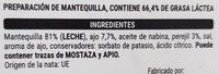 Mantequilla con ajo y hierbas - Ingredients - es