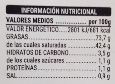 Mantequilla con ajo y hierbas - Informació nutricional - es