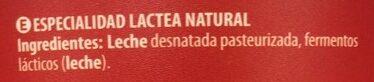 +Proteínas Natural - Ingredients