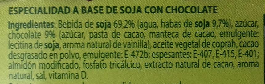 Mousse soja chocolate - Ingredientes - es