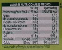 Mousse soja chocolate - Información nutricional - es