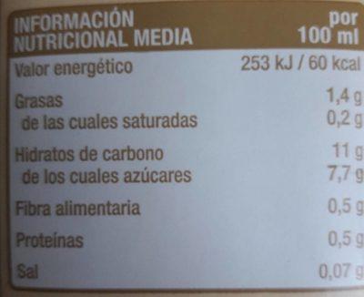 Bebida de trigo espelta - Información nutricional - es