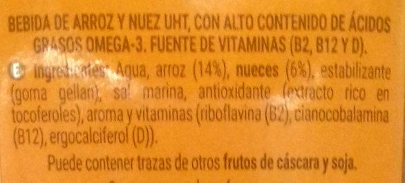 Bebida de nuez y arroz - Ingredients - es