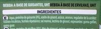 Bebida de Guisantes - Ingrédients