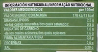 Bebida de Guisantes - Informations nutritionnelles