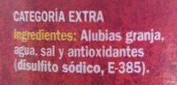 Alubia granja - Ingrediënten - es
